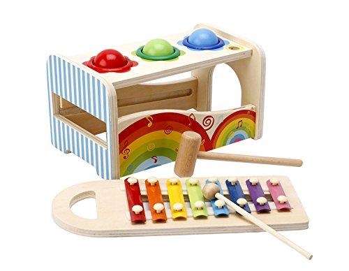 lewo klopfen h mmer spielzeug aus holz mit xylophon musik. Black Bedroom Furniture Sets. Home Design Ideas