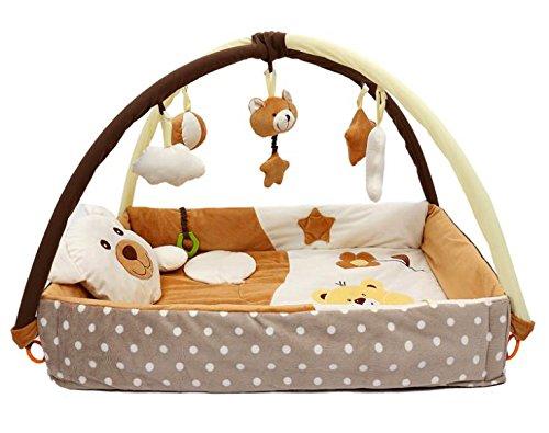 krabbeldecke nest mit spielbogen braun hikog. Black Bedroom Furniture Sets. Home Design Ideas