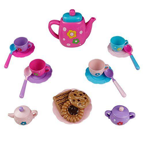 Teeset Kinder Teeservice Spielzeug Rollenspiele ...