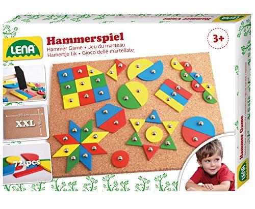 hammerspiel standard nagelspiel mit 72 farbigen teilen in 9 verschiedenen formen grundplatte. Black Bedroom Furniture Sets. Home Design Ideas