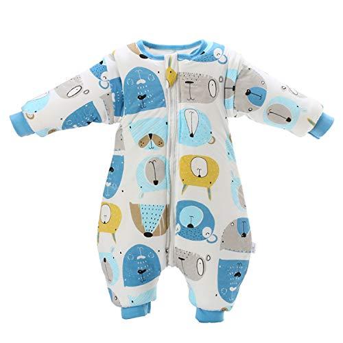 Baby Schlafsack mit Beinen Warm gefüttert Winter Langarm Winterschlafsack mit