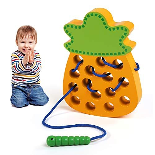 LEADSTAR Montessori Spielzeug, Fädelspiel ab 2 Jahren ...